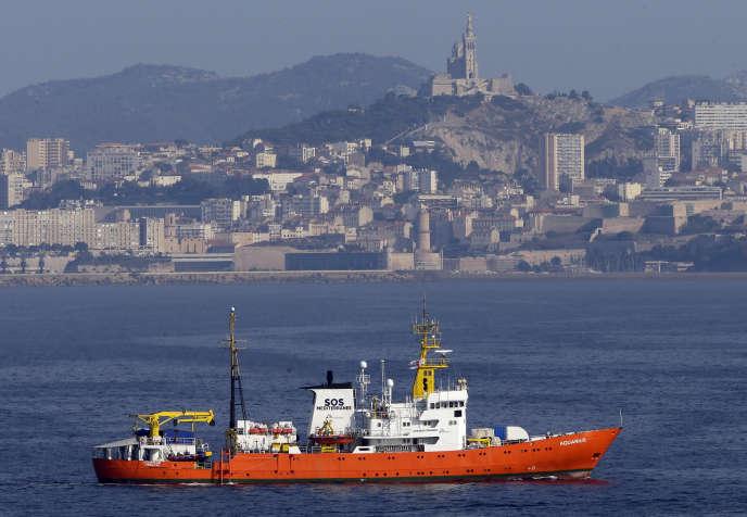 L'«Aquarius» à son arrivée à Marseille, début août.
