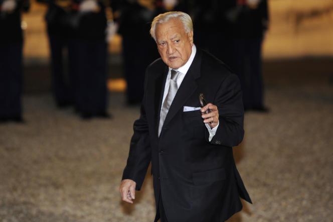 L'ancien président du Sénat Christian Poncelet, le 4 novembre 2010 à l'Elysée, à Paris.