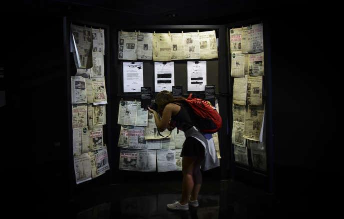 Au Musée de la mémoire, à Santiago du Chili, en octobre 2017.