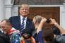 Donald Trump accueillant les «Bikers for Trump» à Bedminster (New Jersey), le 11 août.