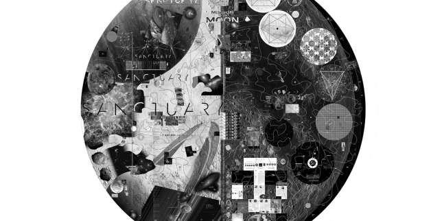 Prototype d'un disque de 5 cm de diamètre. La résolution de 1,4 micron/pixel permet d'inclure une quantité importante de données.