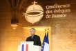 Le président de la Conférence des évêques de France, Georges Pontier, le 9 avril 2018 au collège des Bernardins, à Paris.