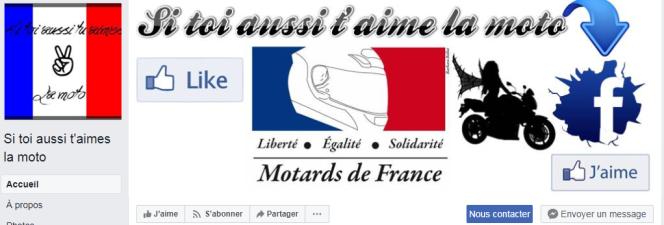 La page Facebook Si toi aussi t'aimes la moto compte par exemple plus de 200 000 abonnés.