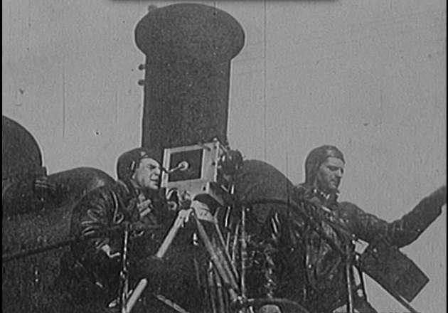 Le «ciné-train» d'Alexandre Medvedkine (image extraite, comme les suivantes, du film de Chris Marker «Le Train en marche», réalisé en 1971).