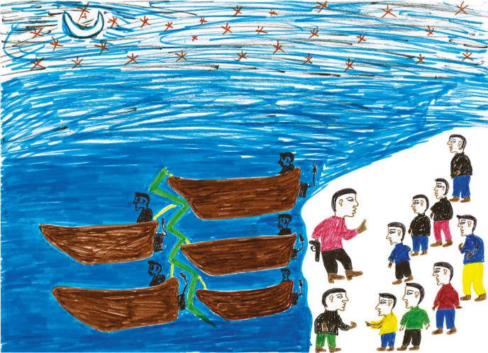 «Le Voyage d'Hafiz El Sudani», d'Hafiz Adem, un réfugié soudanais arrivé en France en 2017.