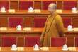 Le maître bouddhiste Xuecheng lors de l'ouverture de la Conférence consultative politique du peuple chinois (CCPPC) au Grand palais du peuple, à Pékin, le 3 mars 2014.