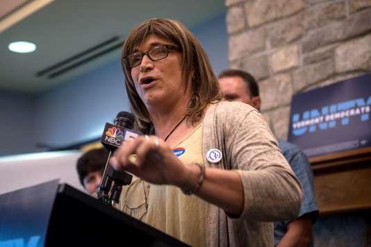 Christine Hallquist, le 15 août 2018. Candidate dans le Vermont, elle pourrait devenir la première personne transgenre élue à un poste de gouverneur aux Etats-Unis.