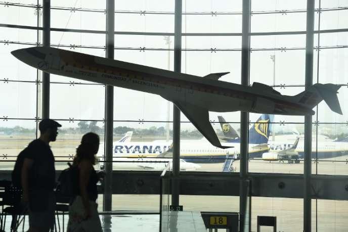 A l'aéroport de Valence, en Espagne, en juillet 2018.