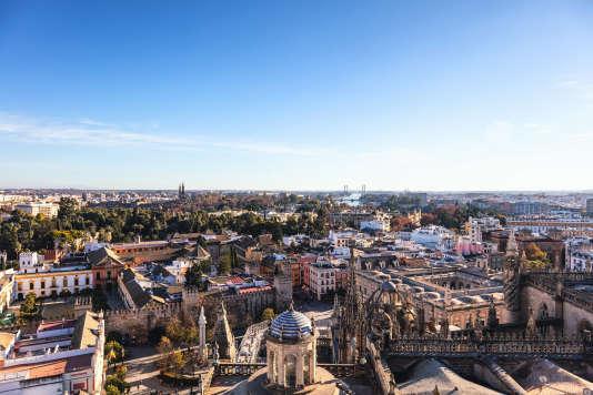 Vue panoramique des hauteurs de Séville, en Andalousie.