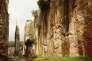 Les ruines du pont-levis du château de Saône, en Syrie, inscrit au Patrimoine mondial de l'humanité de l'Unesco depuis 2006.