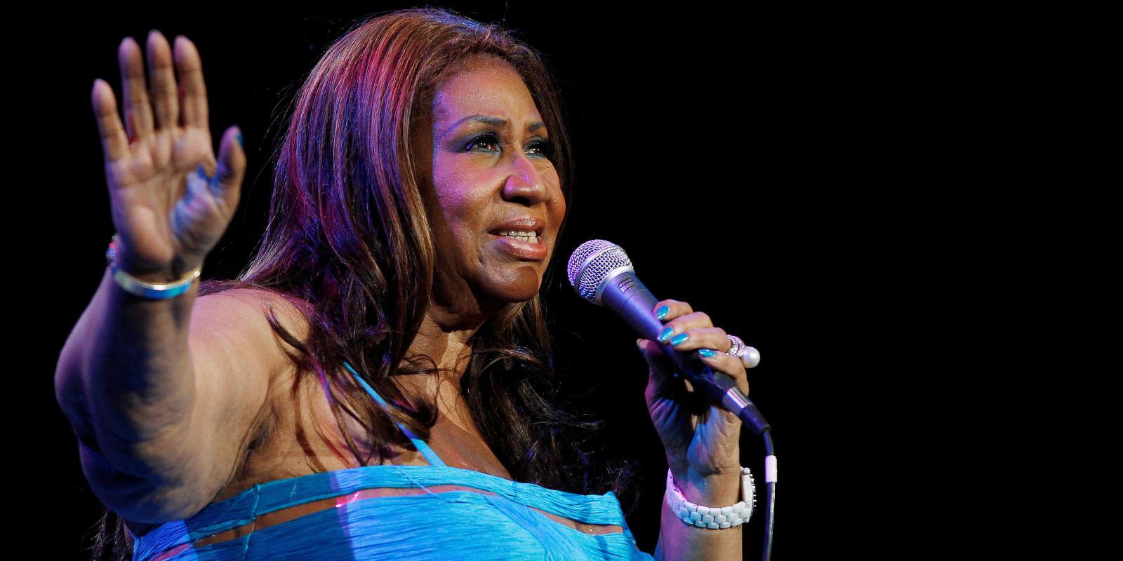 Aretha Franklin à New York en février 2012.
