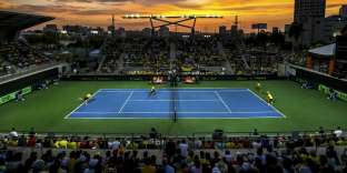 Une rencontre de Coupe Davis entre la Colombie et le Brésil, à Barranquilla, en Colombie, le 7avril 2018.