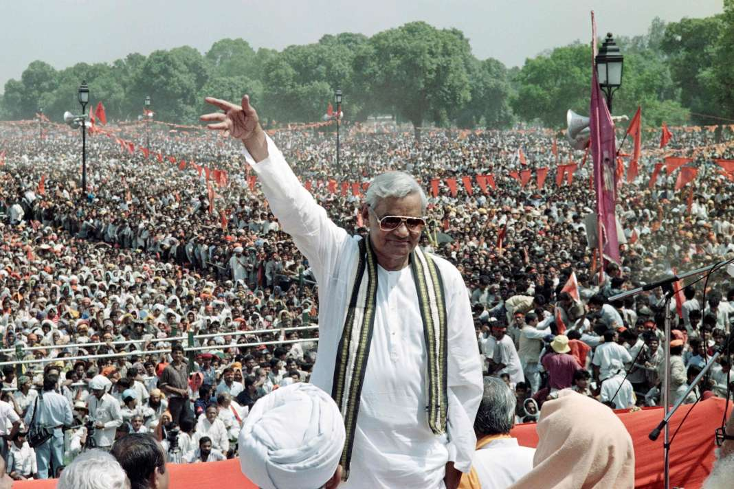 Atal Bihari Vajpayee, le 4 avril 1991.