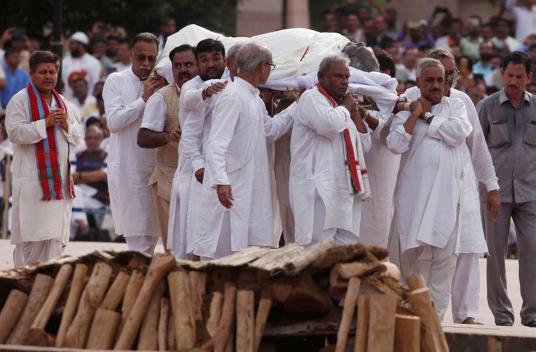 Cérémonie à New Delhi, le 17 août.