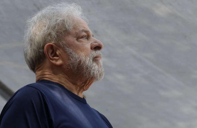 Luiz Inacio Lula da Silva, à Sao Bernardo do Campo, au Brésil, le 7 avril.