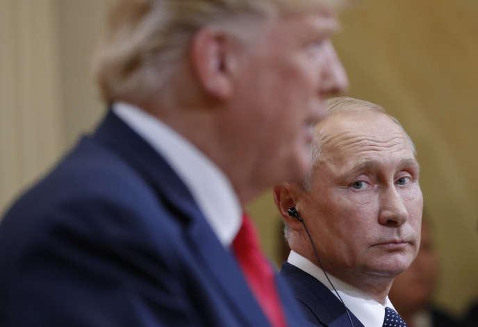 Rencontre entre le président russe, Vladimir Poutine, et le président des Etats-Unis, Donald Trump, le 18 août à Helsinki.
