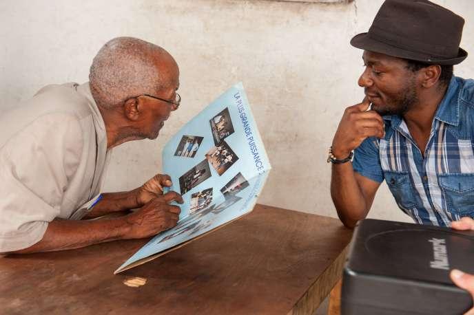 Une image extraite dufilm de Rufin Mbou Mikima,«A la recherche du vinyle d'ébène» (2017).