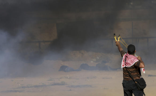 A la frontière entre la bande de Gaza et Israël, le 17 août.