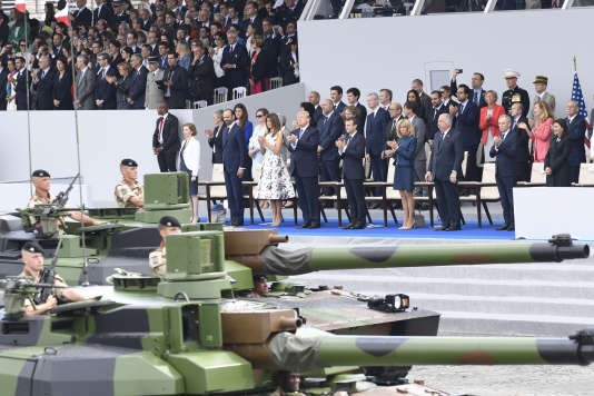 Le 14 juillet 2017, Donald Trump avait assisté au défilé militaire français, à Paris.