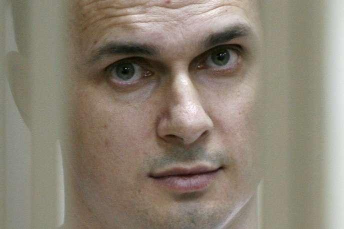 Oleg Senstov lors de son procès à Rostov-sur-le-Don (Russie), en juillet 2015.