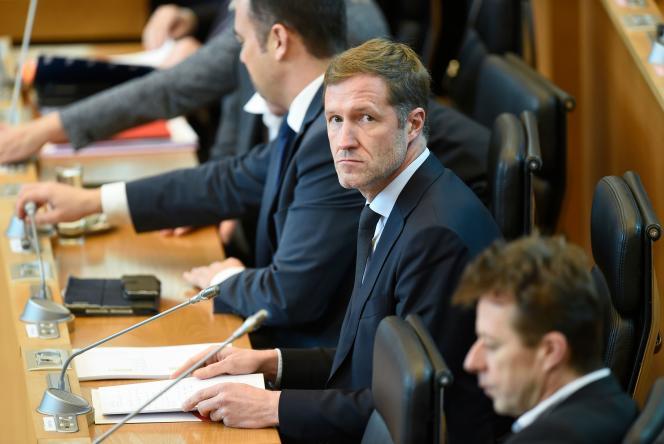 Paul Magnette, au Parlement wallon, à Namur (Belgique), en octobre 2016.