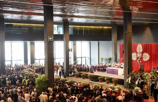 Les funérailles officielles des victimes à Gênes, le 18 août.
