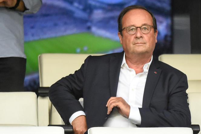 François Hollande, le 10 août au Stade Vélodrome, à Marseille.