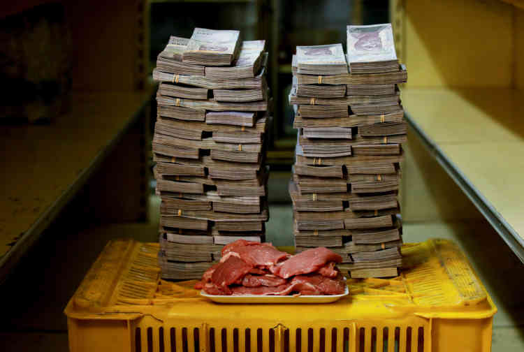 Un kilo de viande: 9500000bolivars (environ 1,45dollar américain).
