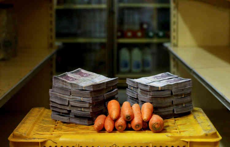 Un kilo de carottes: 3000000bolivars (environ 0,46dollar américain).