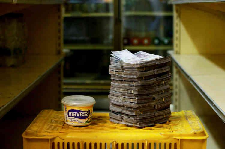 500grammes de margarine: 3000000bolivars (0,46dollar américain).