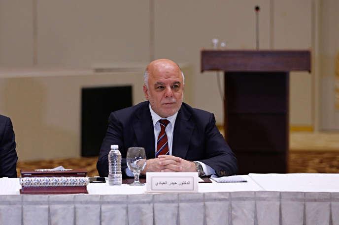Le premier ministre irakien, Haïder Al-Abadi, à Bagdad, le 19 août.