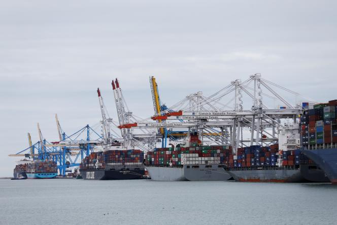 Le port du Havre (Seine-Maritime), en mars 2017.