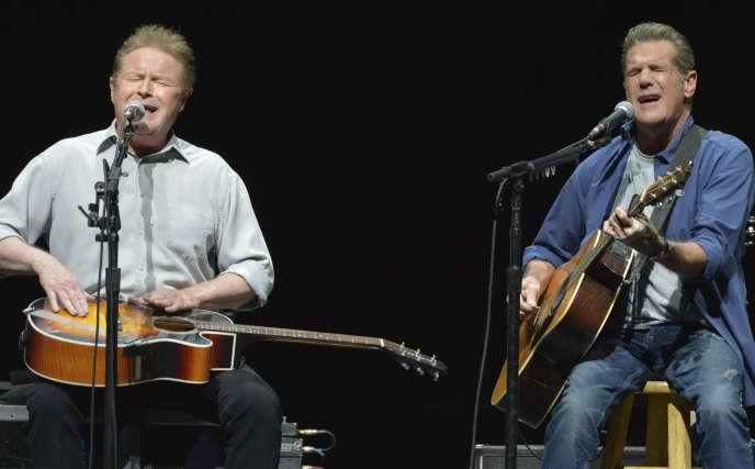Les fondateurs des Eagles, Don Henley et Glenn Frey, en 2014.