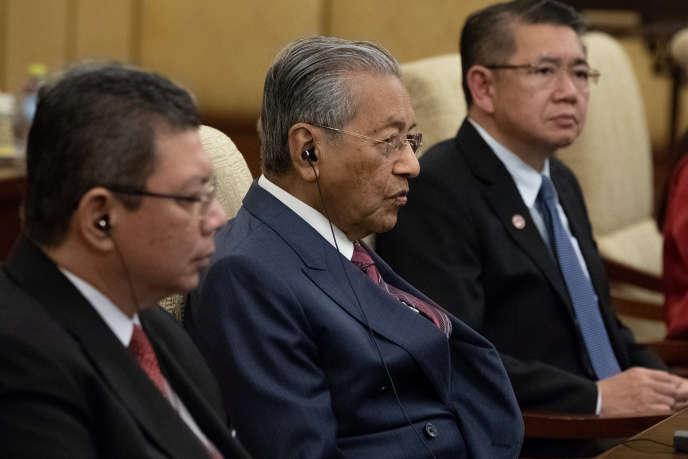 Le premier ministre de Malaisie, Mahathir Mohamad à Pékin, le 20 août.