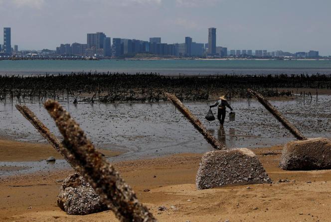 L'île de Kinmen (Taïwan) fait face à la ville Xiamen (Chine), le 20 août.