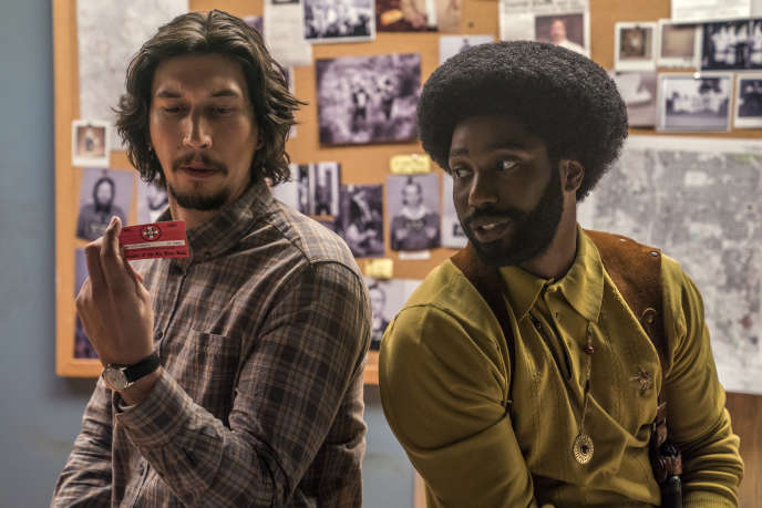 Adam Driver et John David Washington dans le film de Spike Lee, « BlacKkKlansman ».