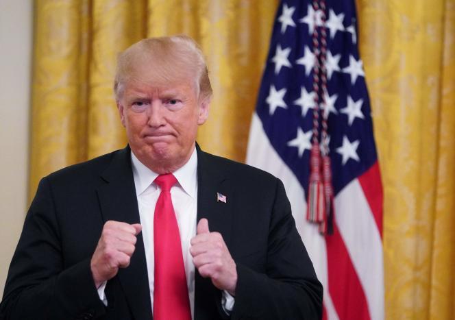 Donald Trump le 20 août à la Maison Blanche.