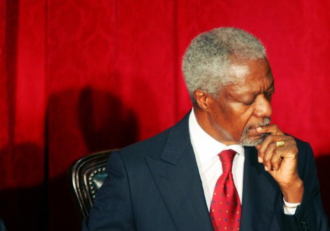 L'ancien secrétaire général de l'ONU Kofi Annan à Nairobi, au Kenya, en janvier 2008.