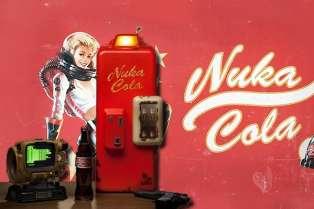 Fausse publicité pour le Nuka Cola, soda fictif bien connu des joueurs de la série postapocalyptique à l'humour caustique, «Fallout».