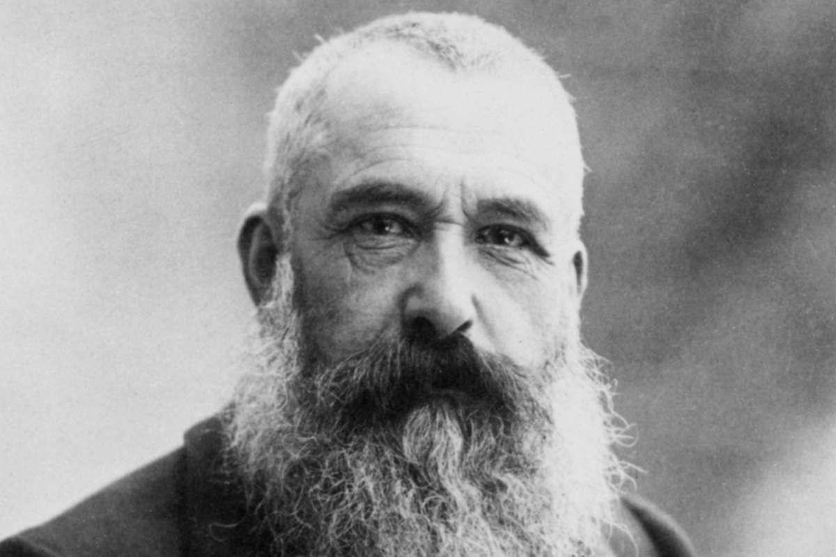 Claude Monet photographié par Nadar, en 1899.