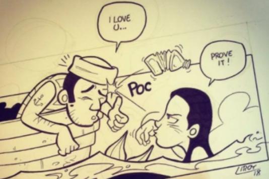 «Je t'aime...-Prouve-le !», une illustration de Liroy BD.