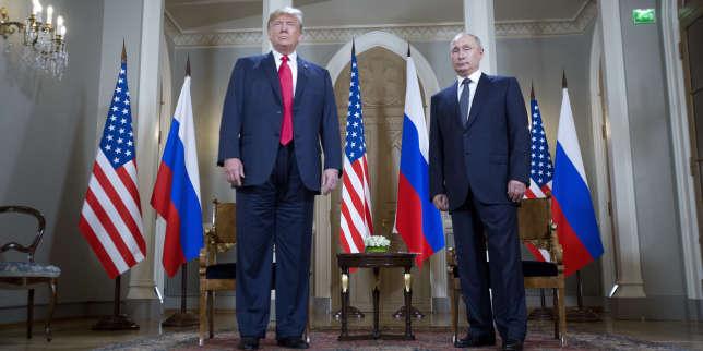 Le président américain, Donald Trump, et son homologue russe, Vladimir Poutine, lors de leur rencontre à Helsinki (Finlande), le 16 juillet.