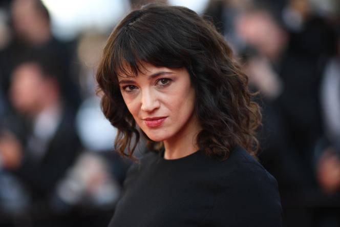 L'actrice italienne Asia Argento au 71e Festival de Cannes, le 19 mai 2018.