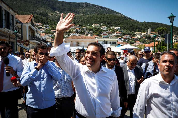 Alexis Tsipras à Athènes, le 21 août.