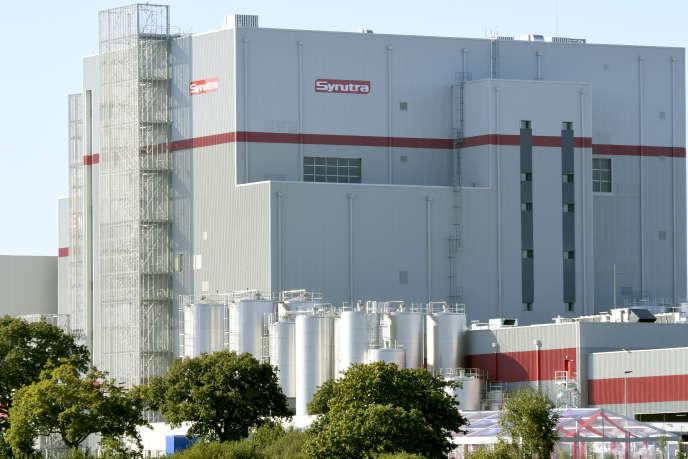 L'usine de poudre de lait infantile Synutra à Carhaix (Finistère), le 28 septembre 2016, jour de son inauguration.