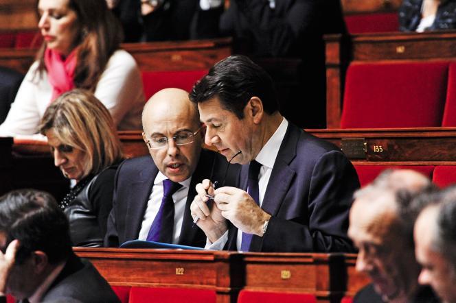 Eric Ciotti et Christian Estrosi, à l'Assemblée nationale en 2010.