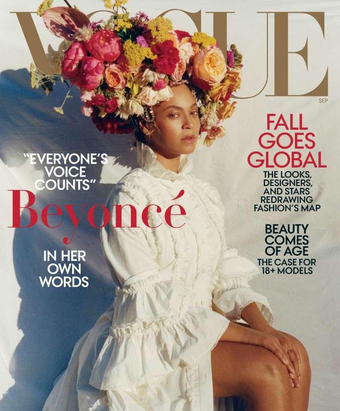 Le magazine « Vogue » met à l'honneur la chanteuse américaine Beyoncé en couverture de son numéro de rentrée 2018.
