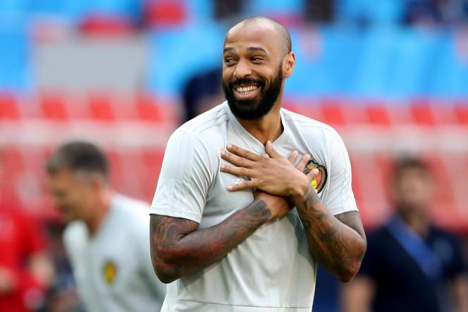 Thierry Henry durant la Coupe du monde 2018.