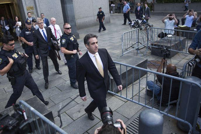 Michael Cohen, ancien avocat du président Donald Trump, après sa comparution devant la Cour fédérale le 21 août, à New York.