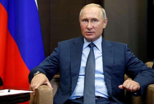 Vladimir Poutine, à Sotchi (Russie), le 22 août.